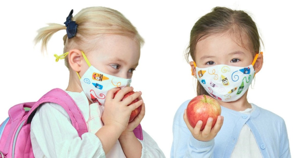 kids wearing face masks