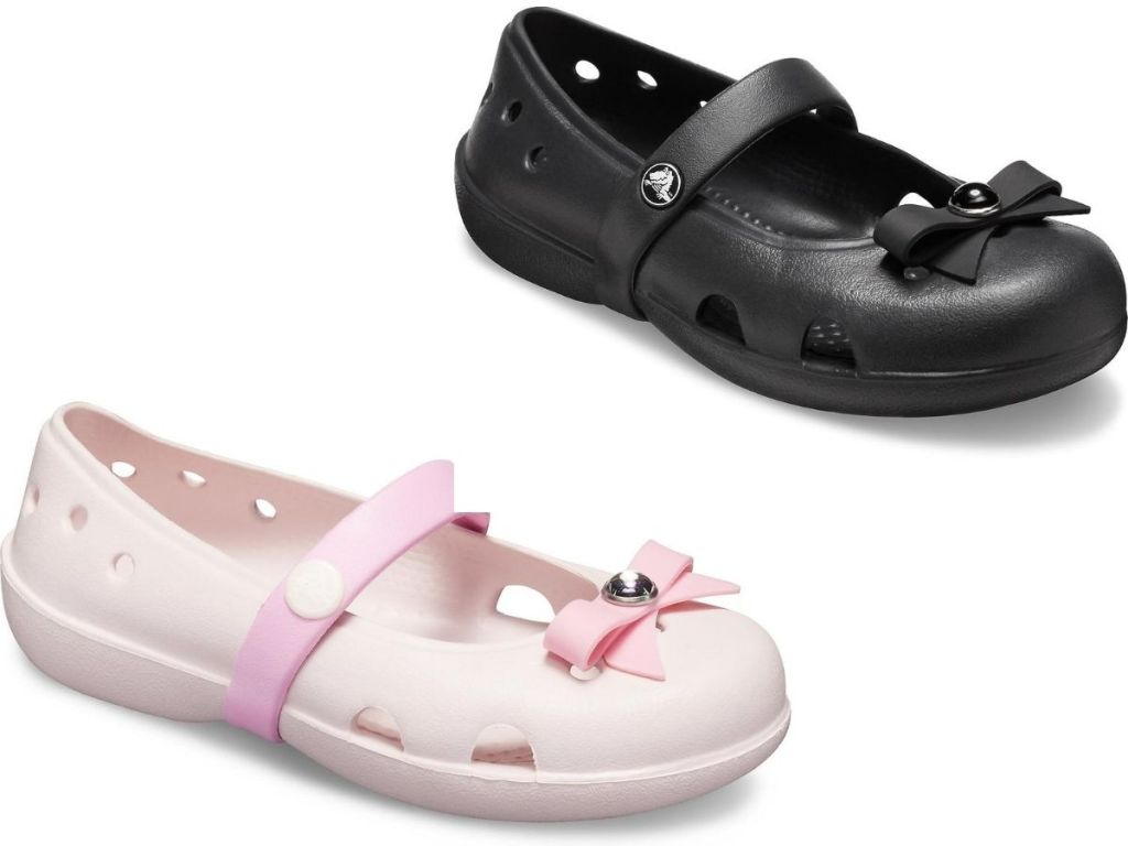 two right foot crocs kids shoes
