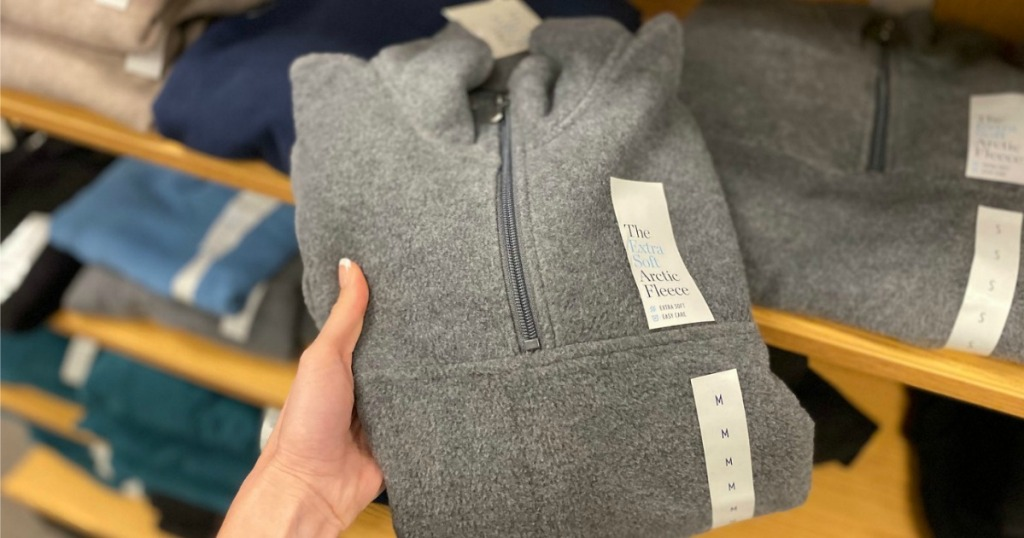 Croft Barrow Fleece Pullover in gray