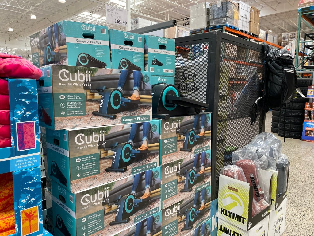 Cubii Elliptical display at Costco