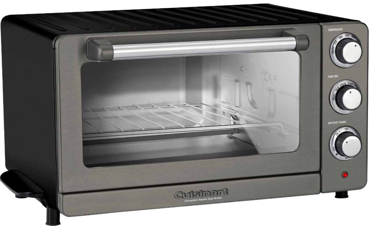 stainless steel & black toaster oven