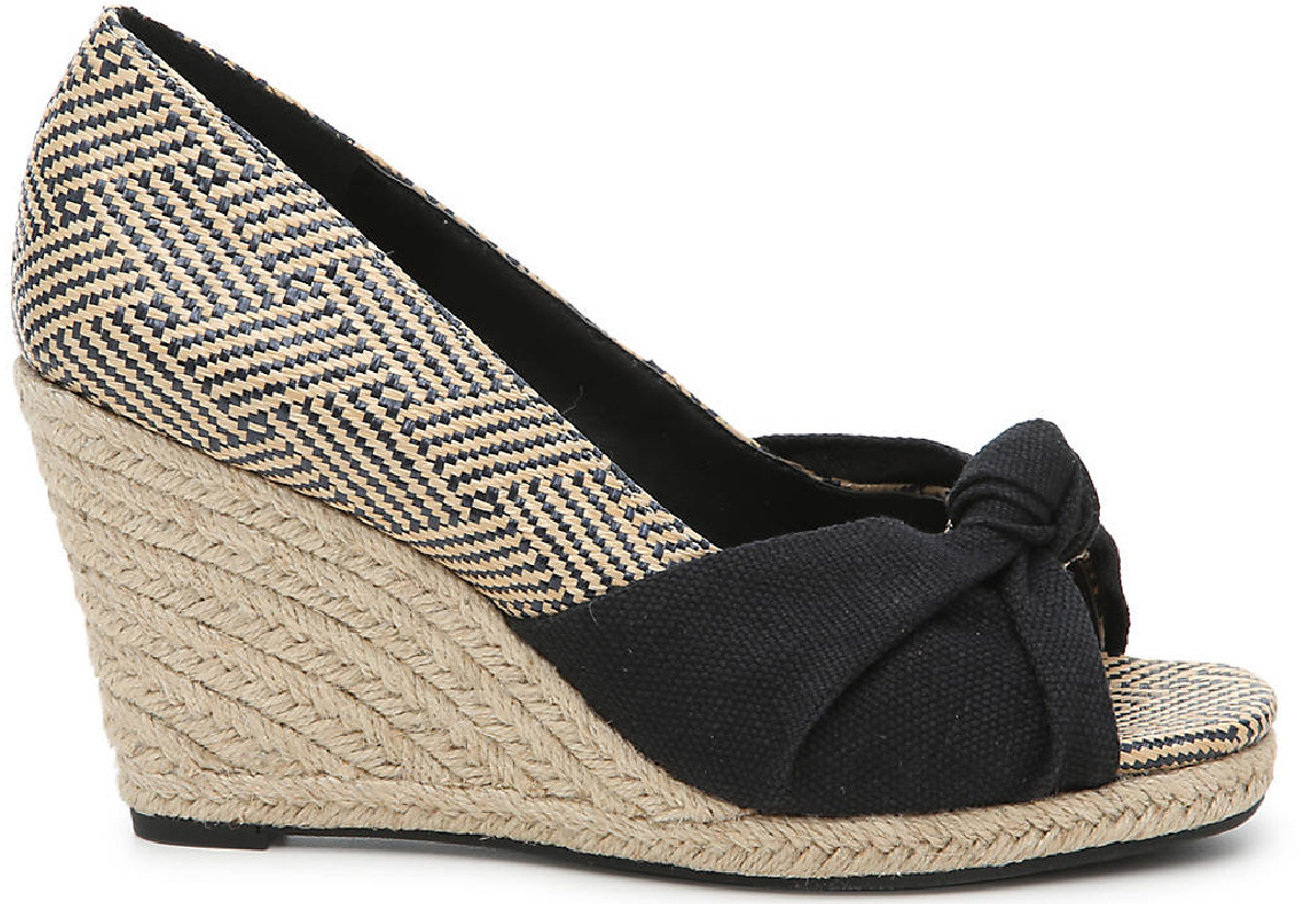 black and tan wedge jute sandals