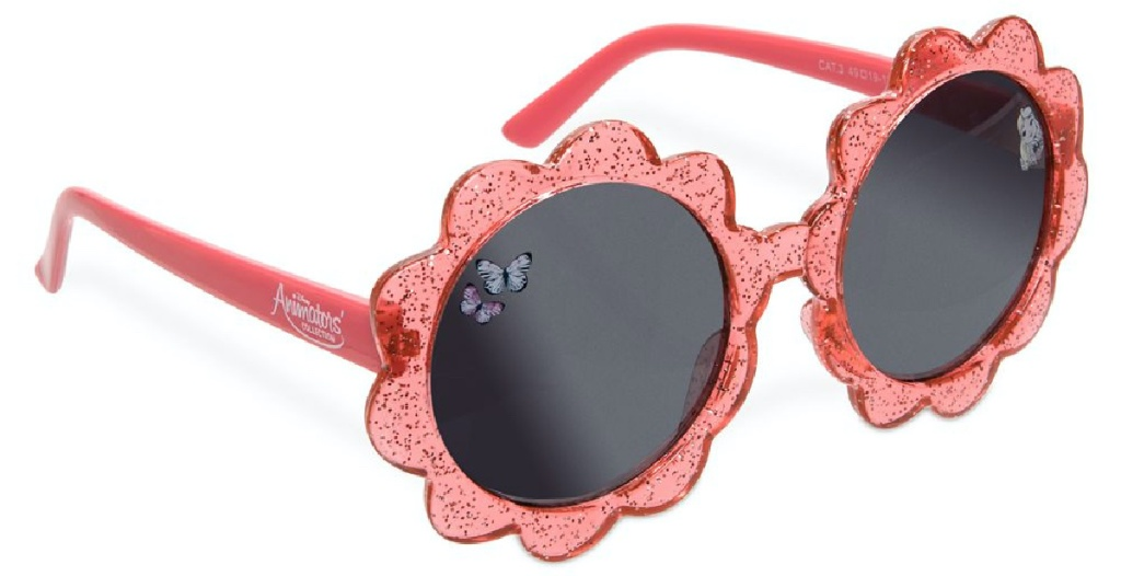 red pair of Disney Animators' Collection Aurora Sunglasses for Kids