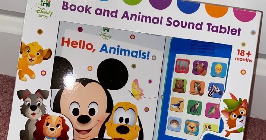 Disney board book and toy in package