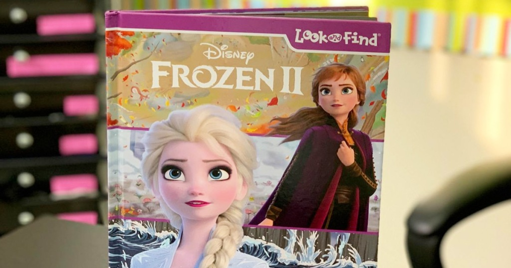 Disney Frozen 2 look and find book with Ana and Elsa on the cover