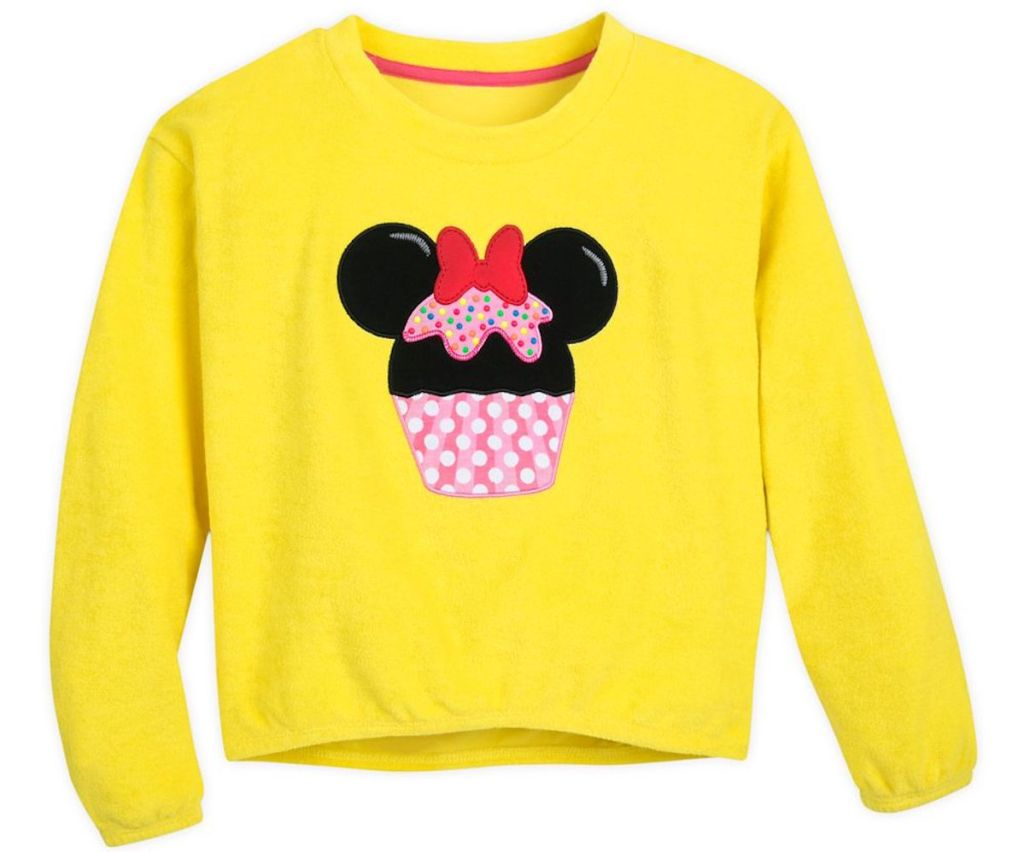 yellow minnie mouse with cupcake cover up
