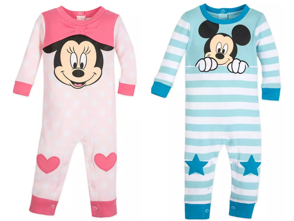minnie mouse sleeper next to a mickey mouse sleeper