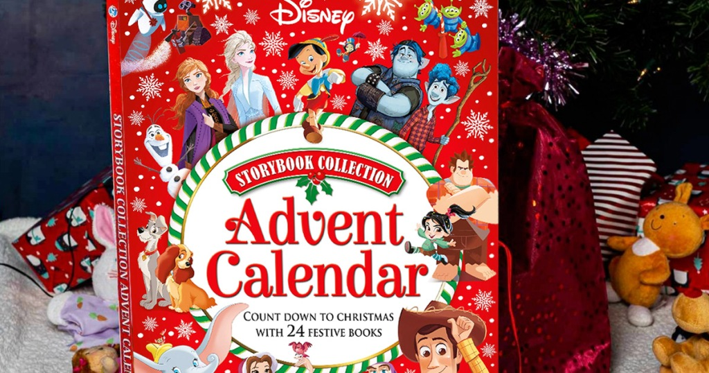 large red disney christmas story advent calendar