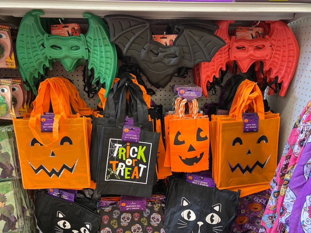 Dragon Masks and Candy Tote Bags