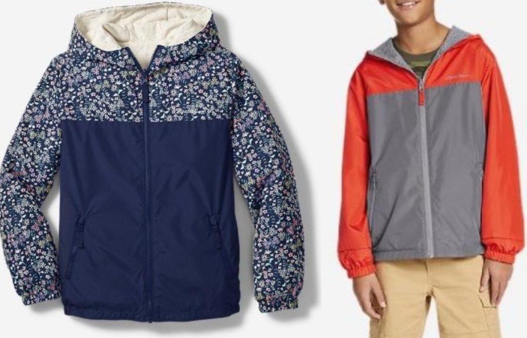 windbreaker jacket alone and on a boy
