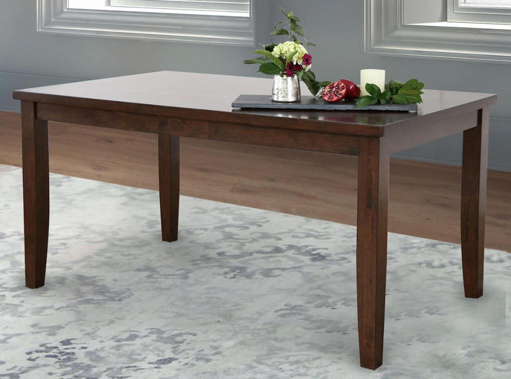 dining table with flowers on it