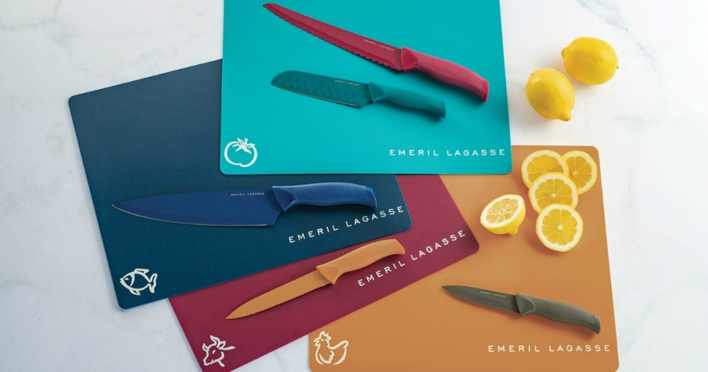 Emeril Lagasse Knife Set with cutting boards