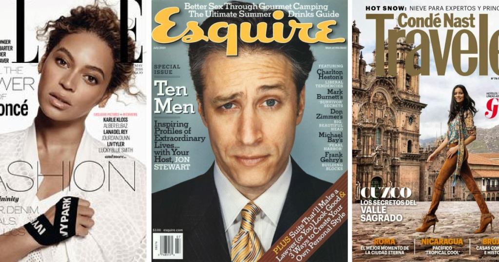3 magazine covers sitting side by side