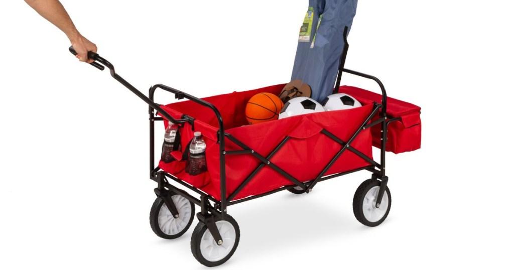 Folding Utility Wagon Cart w/ Canopy