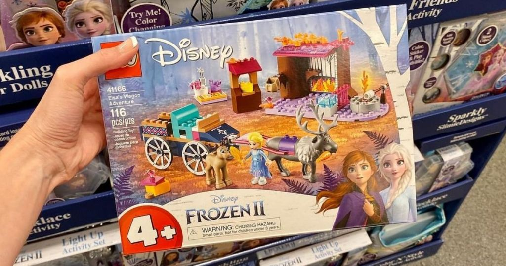 Frozen Lego Set in Woman's hand