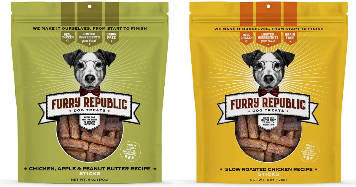 2 bags of Furry Republic Brand Dog Treats