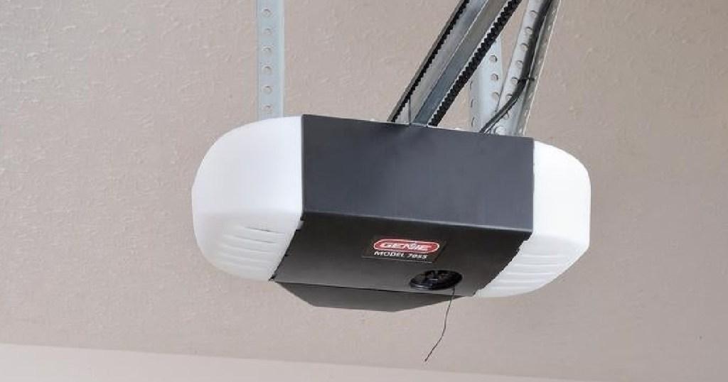 genie garage door opener on ceiling