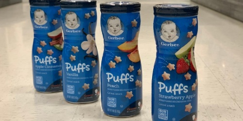 $5 Off $20 Gerber Baby Food Purchase on Amazon | Cereals, Snacks & Purees