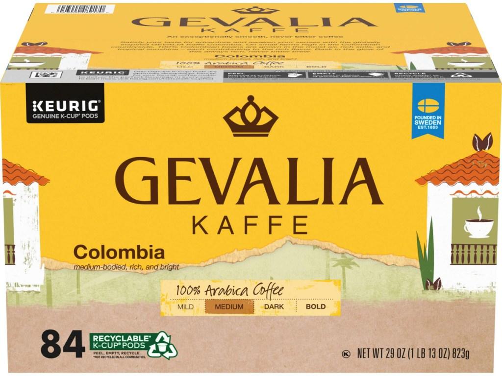 large 84-count box of gevalia k-cups