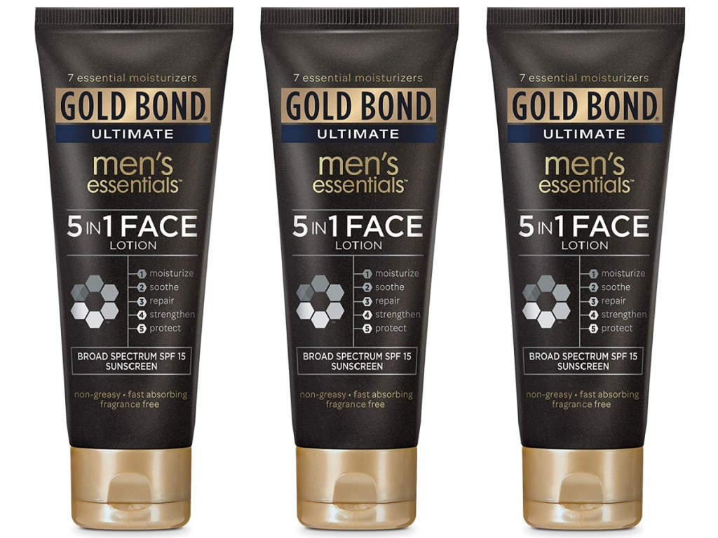 Gold Bond 4-Ounce Ultimate Men's Essentials 5-in-1 Face Lotion