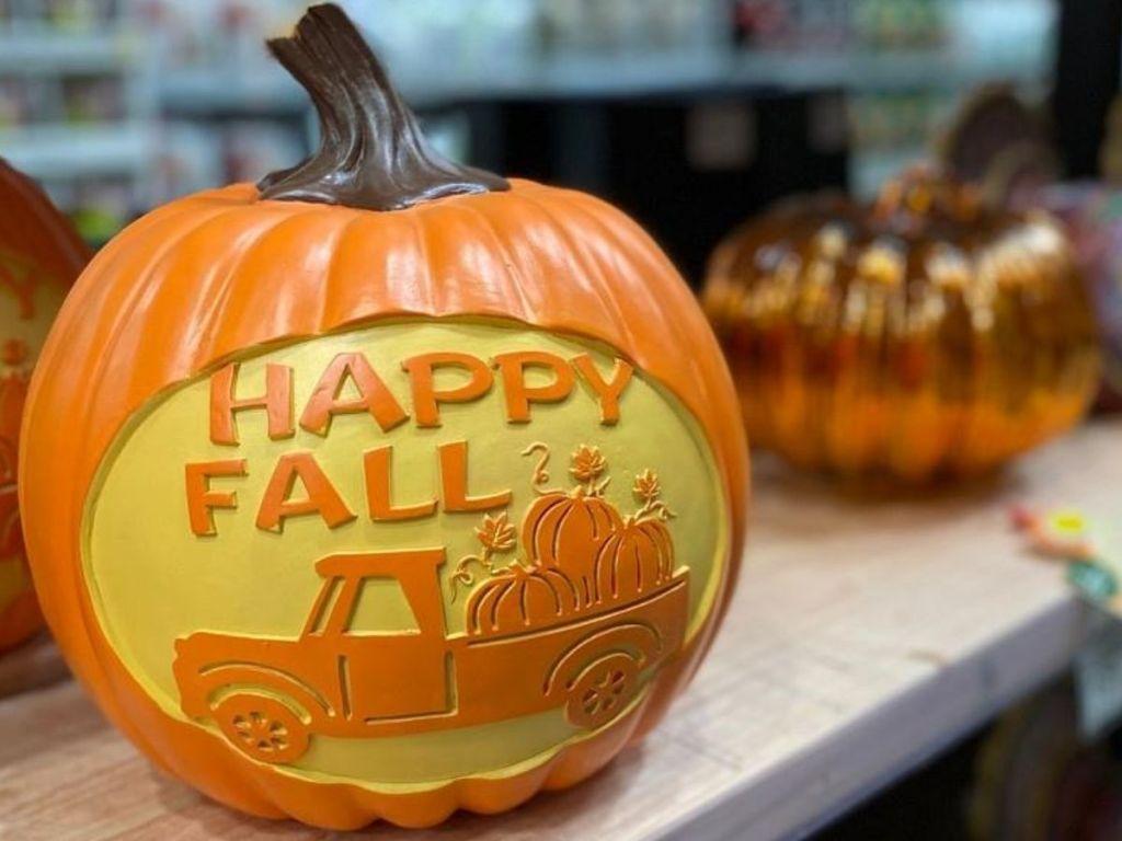 resin pumpkin decoration