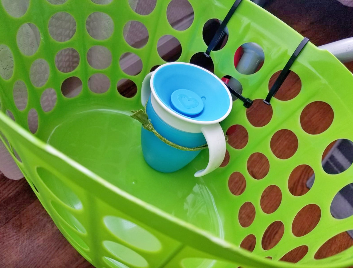 This Mom Made A Diy Kids Bike Basket Using Items From Dollar Tree Hip2save