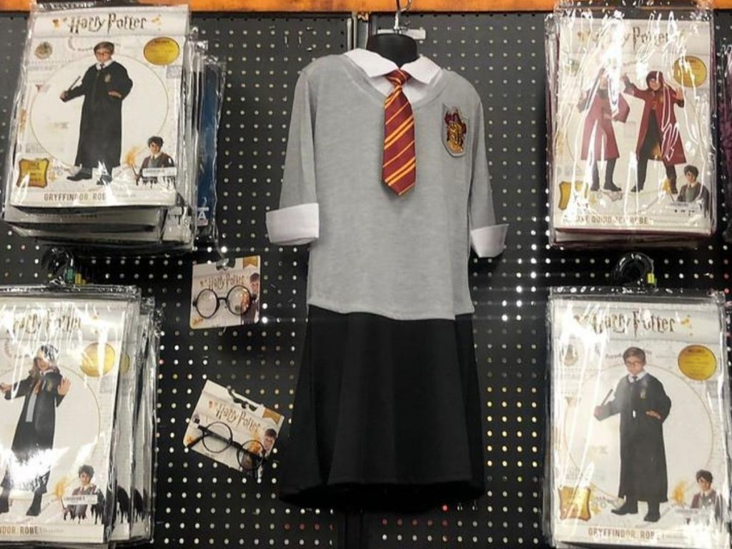 wall of harry potter costumes