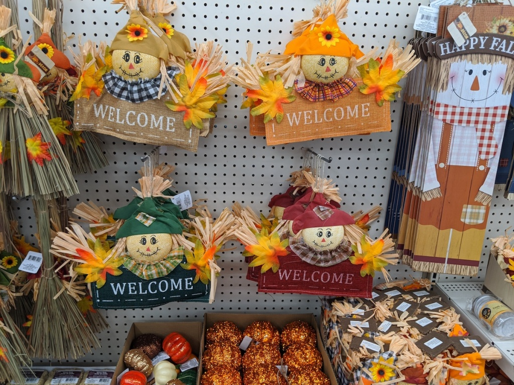 multiple Harvest Inspired Felt Scarecrow Welcome Signs