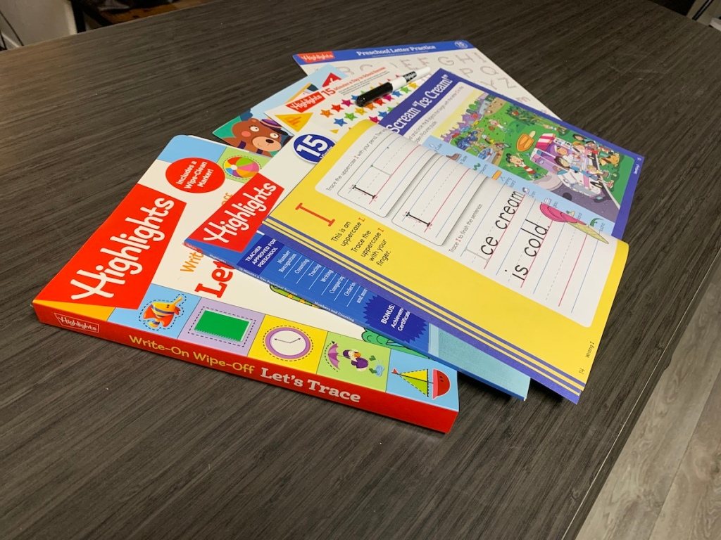 stack of Highlights learning books