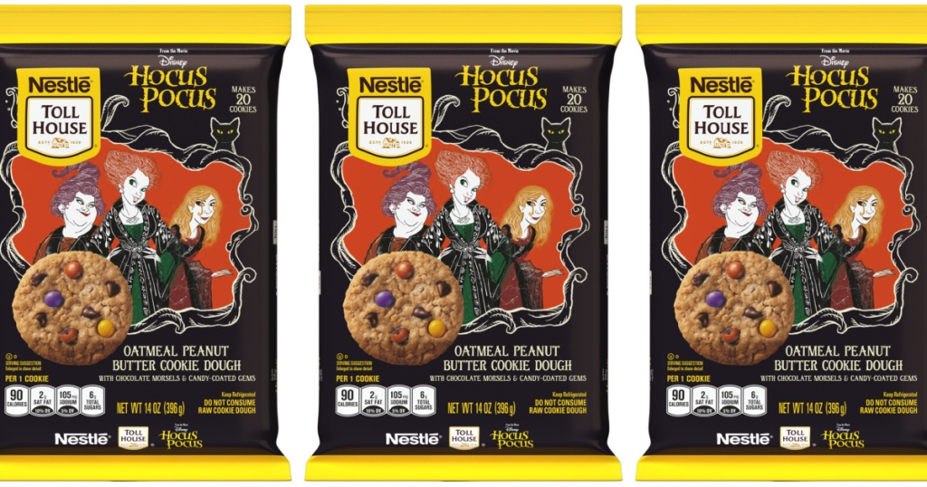 three packs of hocus pocus nestle cookies