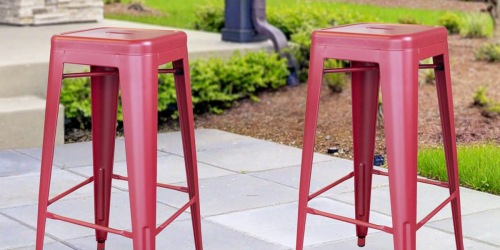 2 Industrial Style Barstools Just $59 Shipped on HomeDepot.com (Regularly $132)