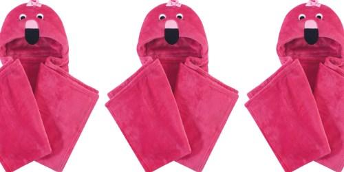 Hudson Baby Hooded Flamingo Plush Blanket Only $7.79 on Amazon (Regularly $13)