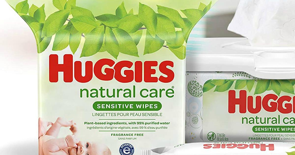 bag of Huggies Wipes