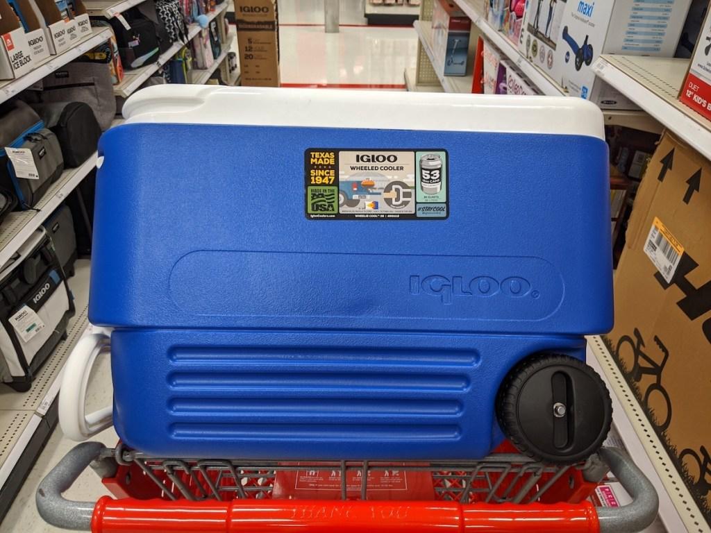 blue Igloo Wheelie Cool 38-Quart Cooler