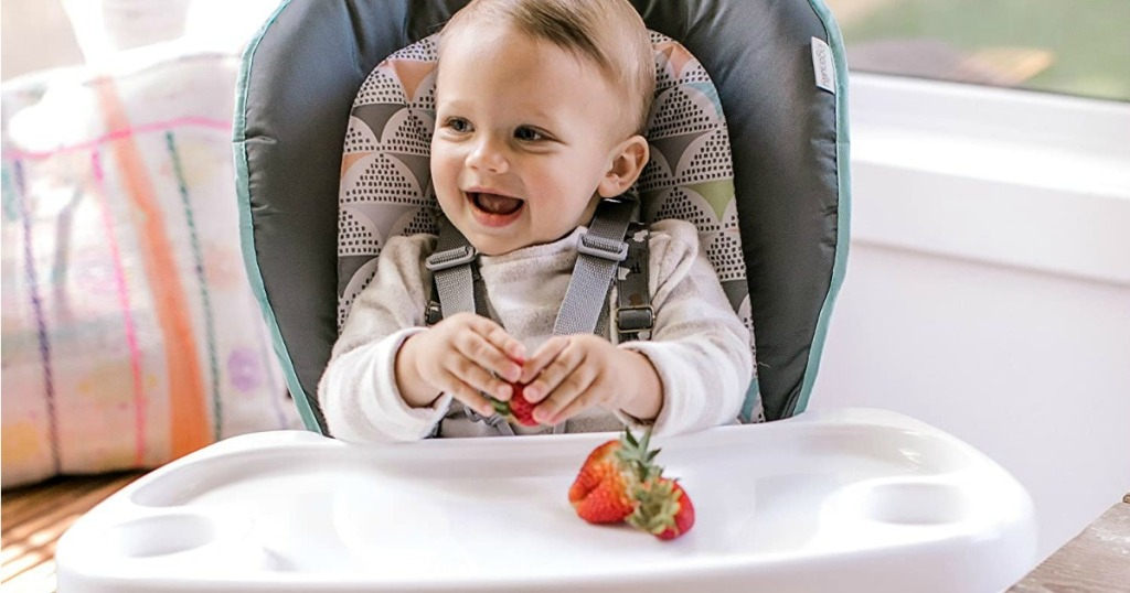 baby sitting in Infantino High Chair