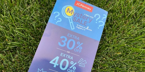 Up to 50% Off Entire Purchase at JCPenney w/ Mystery Coupon | Valid In-Store & Online