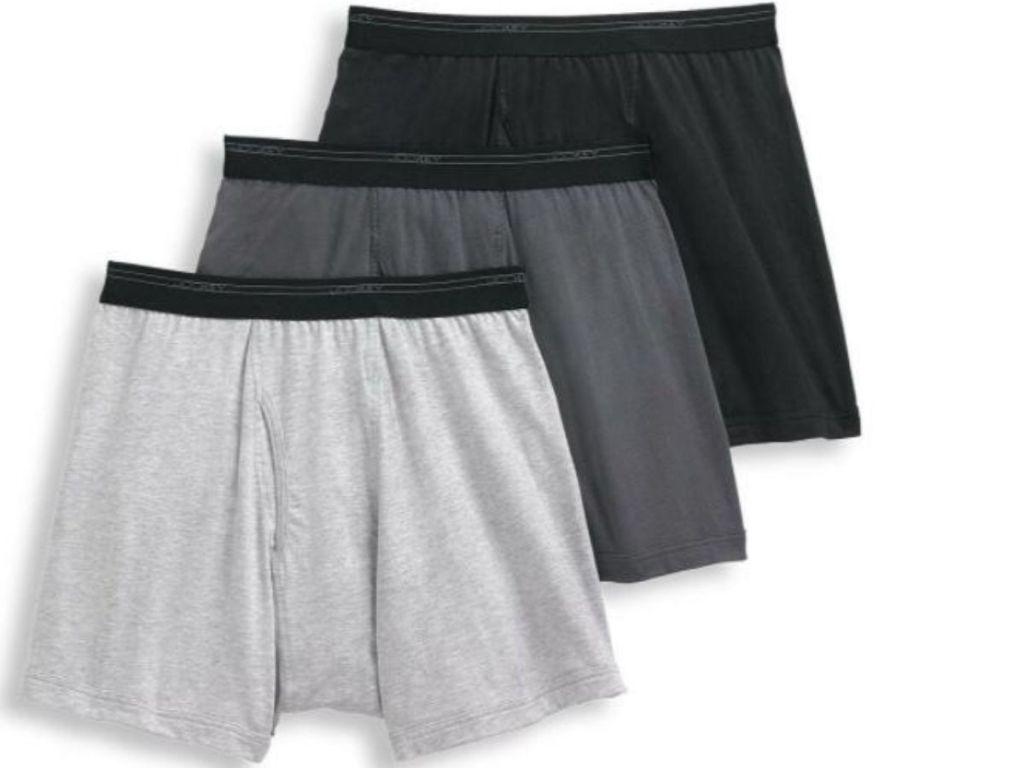 3-pairs of boxer shorts