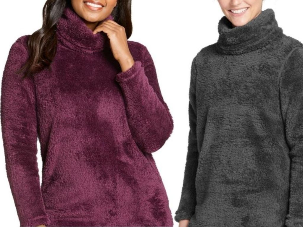 two sherpa pullovers