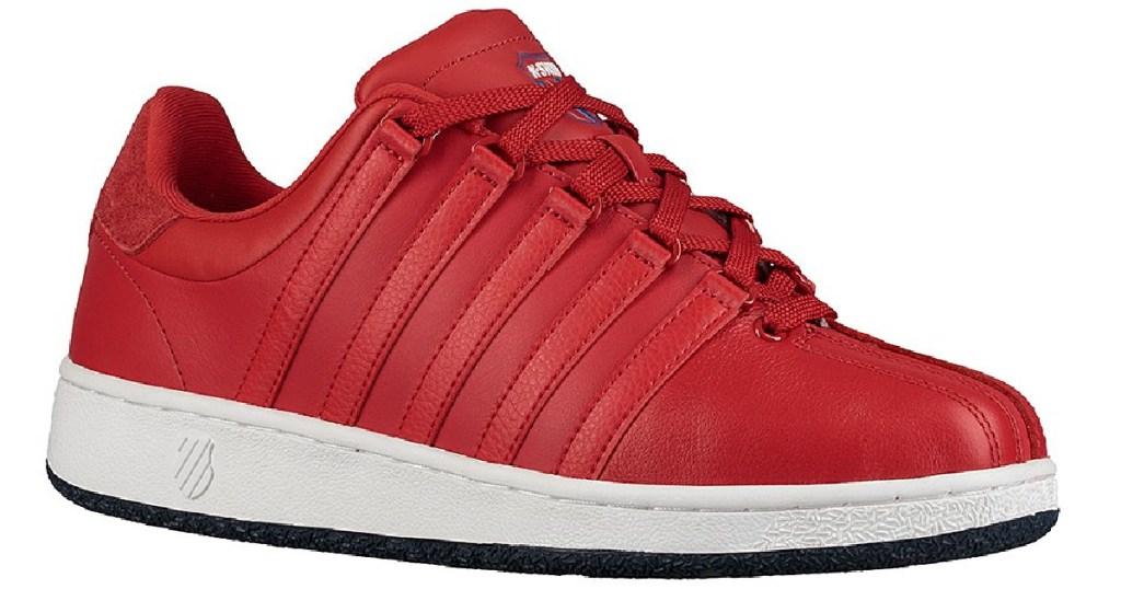 k-swiss men's red sneaker