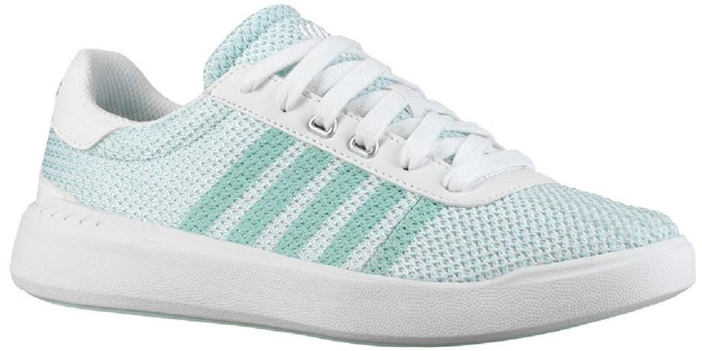 k-swiss women's light teal and white sneaker