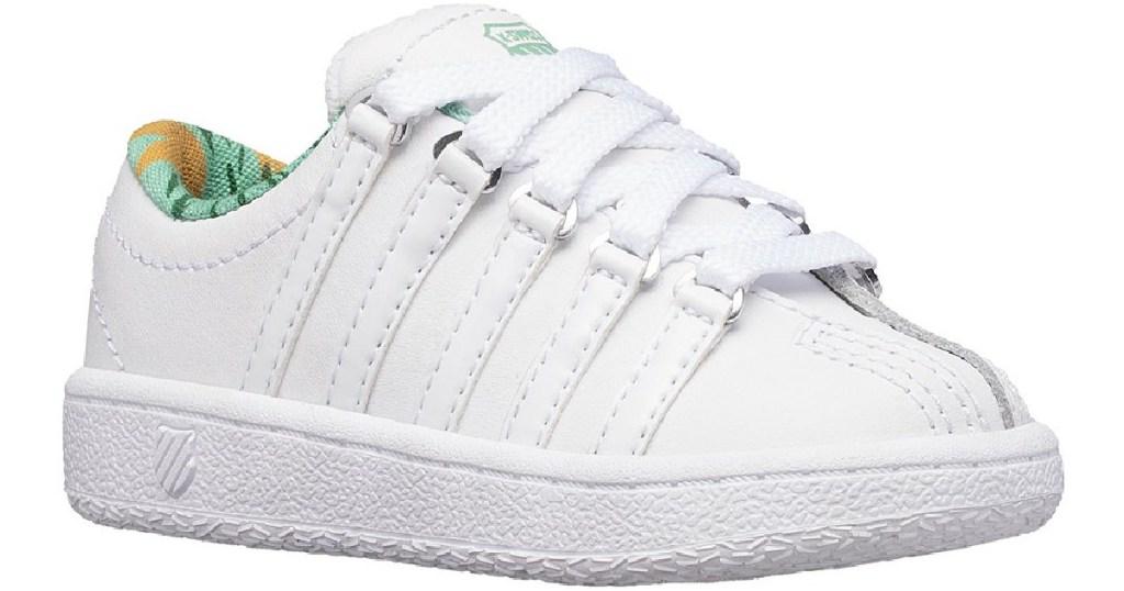 k-swiss white toddler sneaker