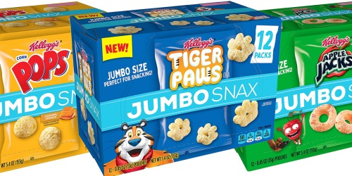 Kellogg's Jumbo Snax 48-Count Boxes Just $13.94 Shipped on Amazon | Only 29¢ Per Bag