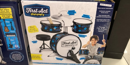 First Act Discovery Drum Set Only $38 Shipped (Regularly $100)