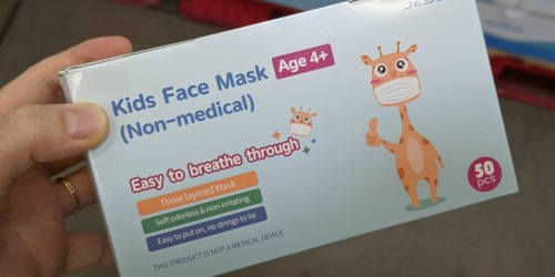 Kids Disposable Face Masks 50-Count Only $2.98 on SamsClub.com | Just 6¢ Per Mask