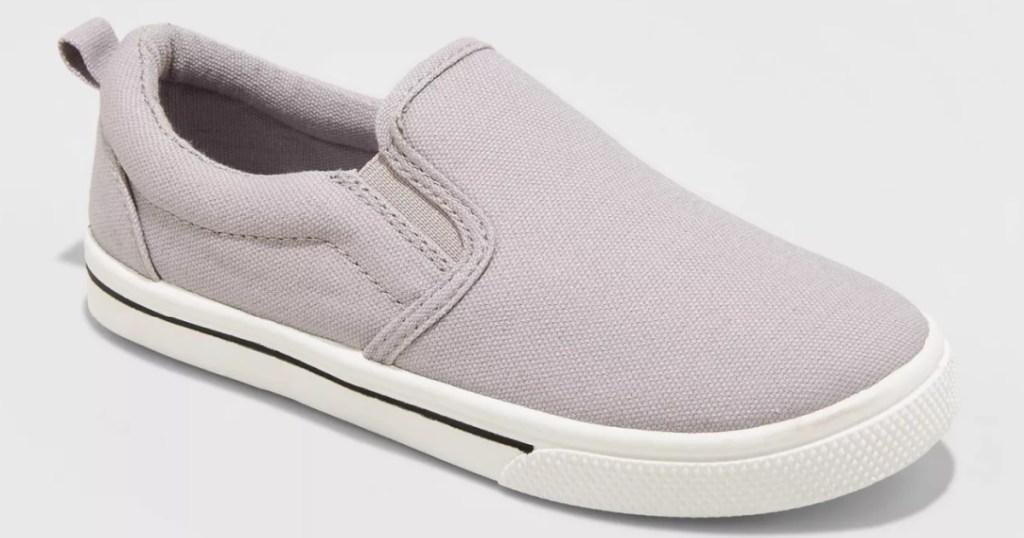 boys slip on sneaker in the color grey