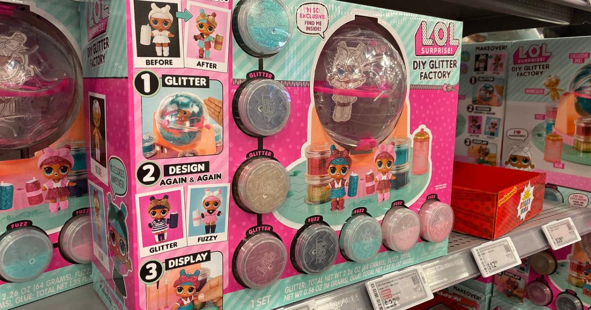 L.O.L. Surprise! DIY Glitter Factory on shelf in store