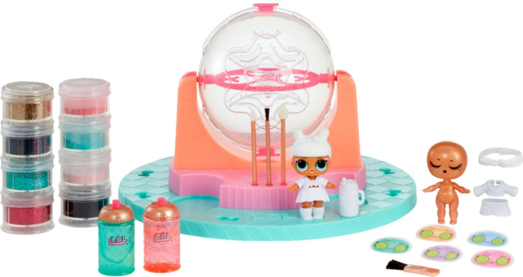 glitter and doll toy set