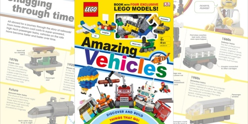 LEGO Amazing Vehicles Hardcover Book Just $9.80 on Target (Regularly $20) | Includes 61 LEGOs