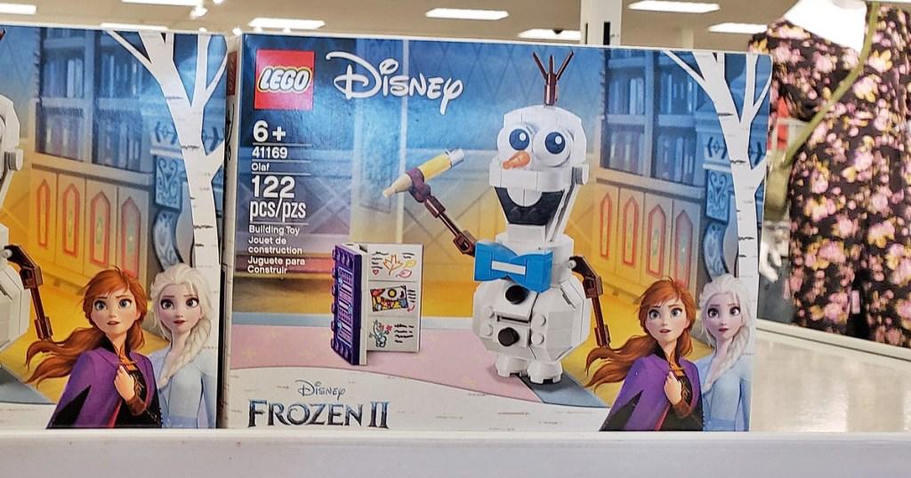 Disney Frozen 2 Olaf kit on white store shelf