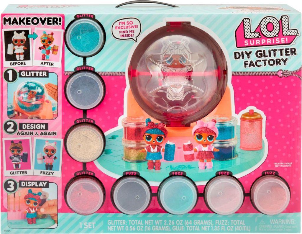 box of LOL Surprise DIY Glitter Factory